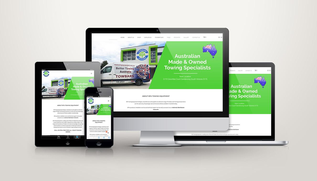 BTA Towing Equipment eCommerce Website Re-Design