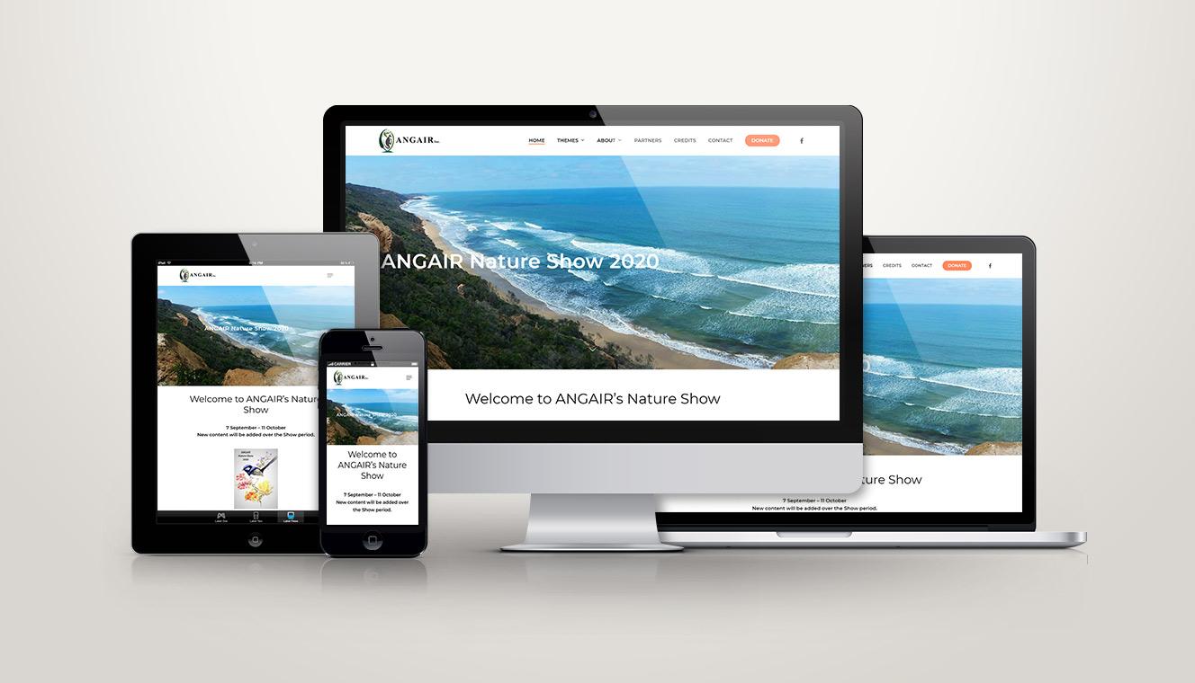 ANGAIR Nature Show Website Design