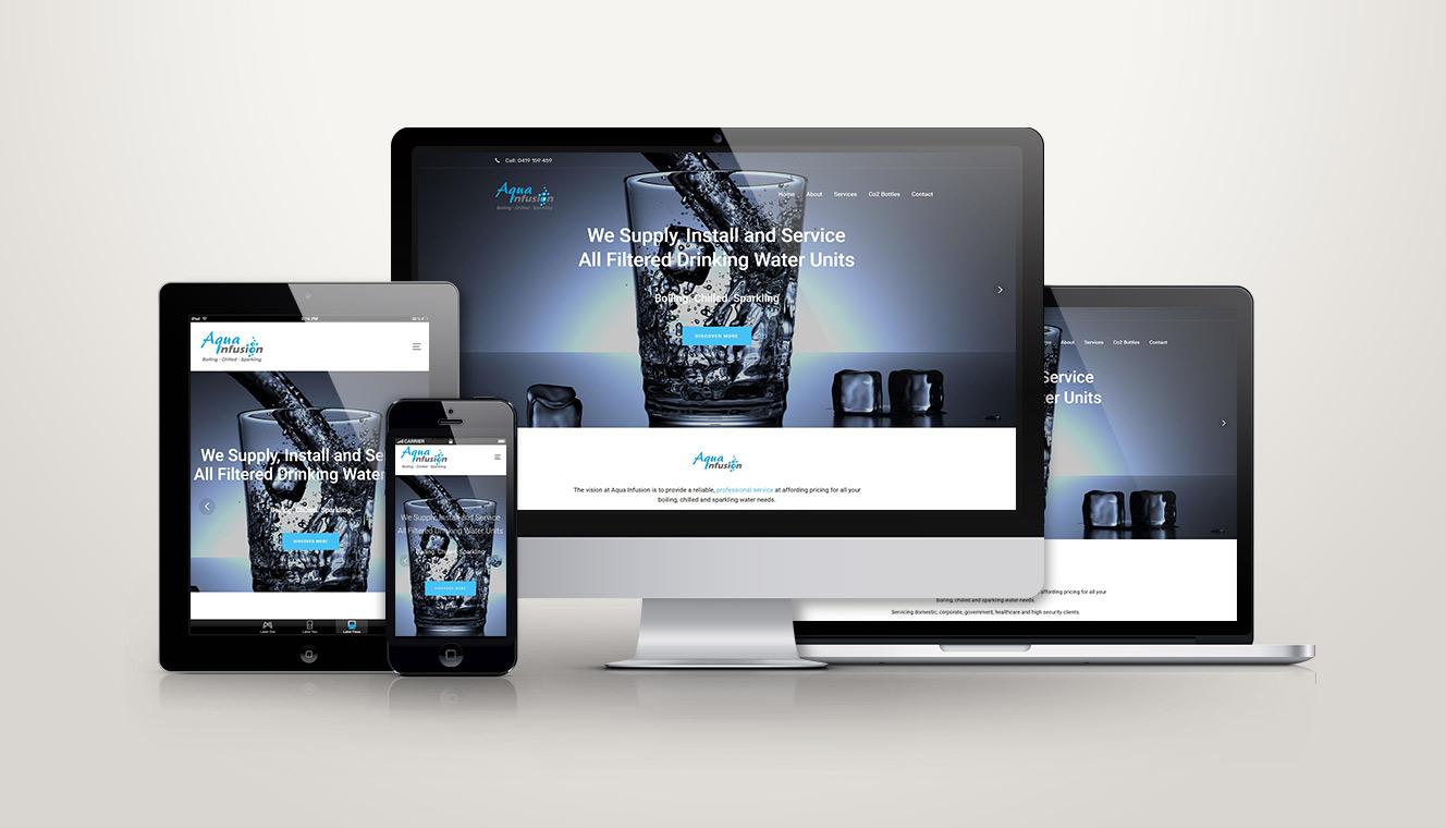 Aqua Infusion Website Re-Design