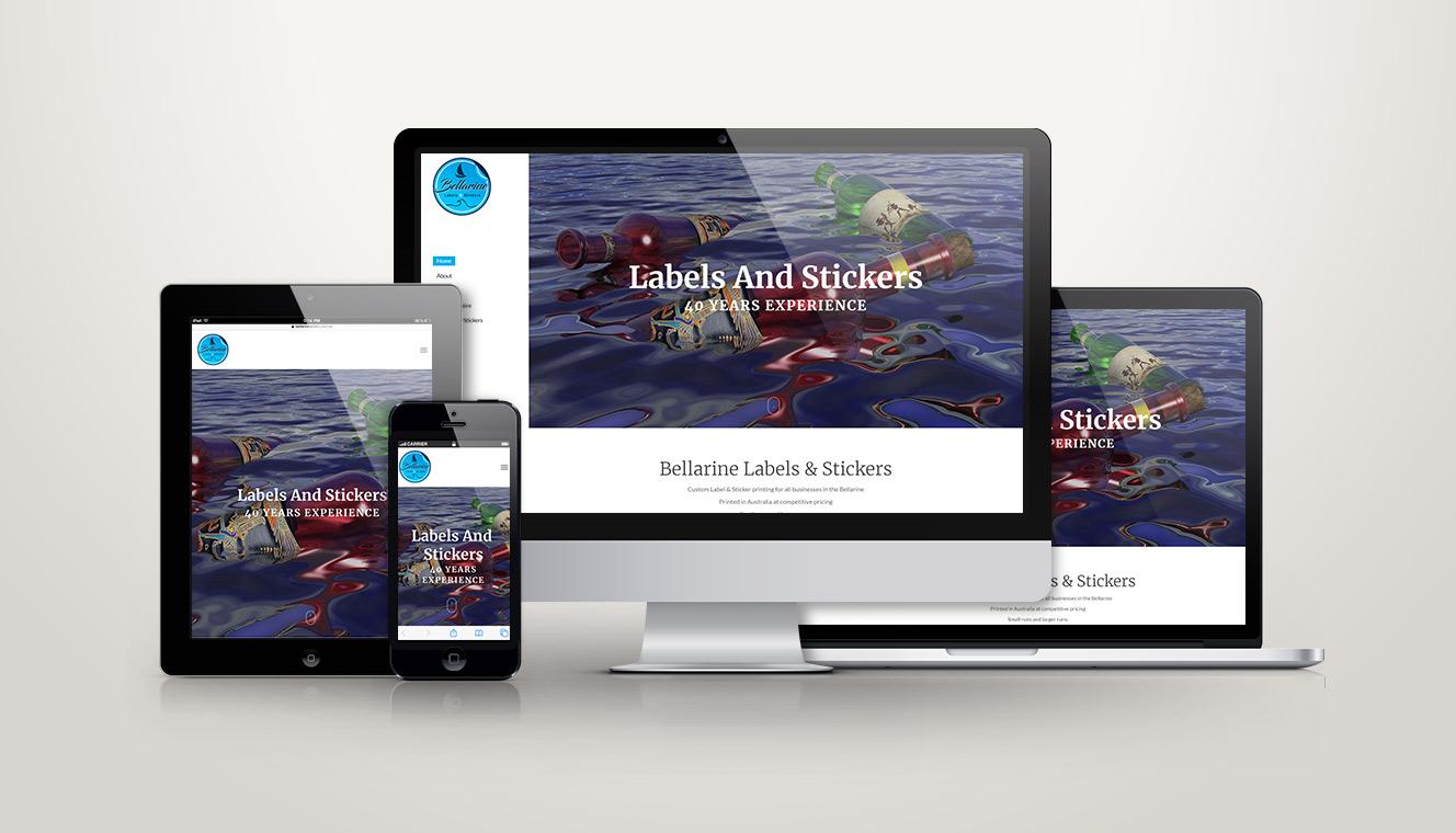 Bellarine Labels Website Re-Design